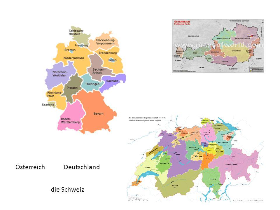 Österreich die Schweiz Deutschland