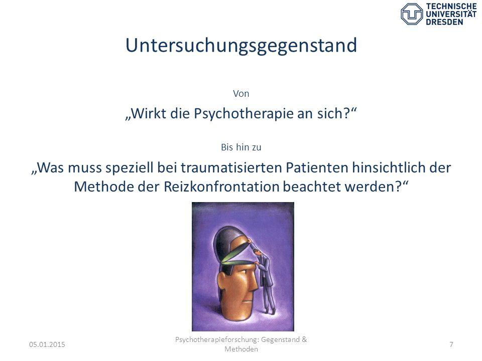 ZUSAMMENFASSUNG 05.01.2015 Psychotherapieforschung: Gegenstand & Methoden 38