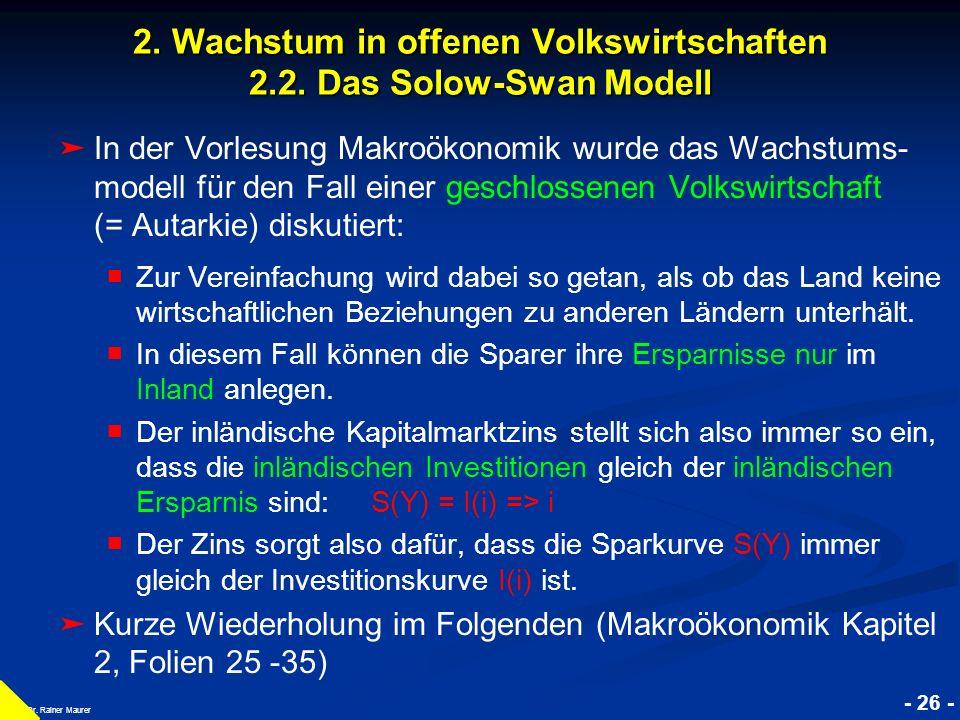 © RAINER MAURER, Pforzheim - 27 - Prof.Dr. Rainer Maurer Y K 2.