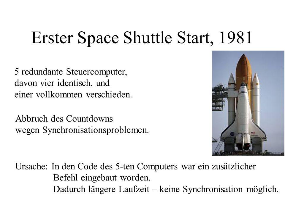 Software stammte von Ariane 4, aber die entsprechende Zahl war der Wert der horizontalen Geschwindigkeit, und Ariane 5 flog schneller!!! Software war
