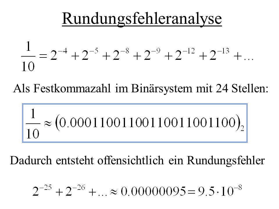 Ursache Interne Uhr des Steuercomputers gibt die Zeit in Zehntel-Sekunden an Steuerprogramm rechnet in Sekunden Umrechnung, indem durch 10 geteilt wird Realisierung dieser Umrechnung, indem mit 0.1 multipliziert wird.