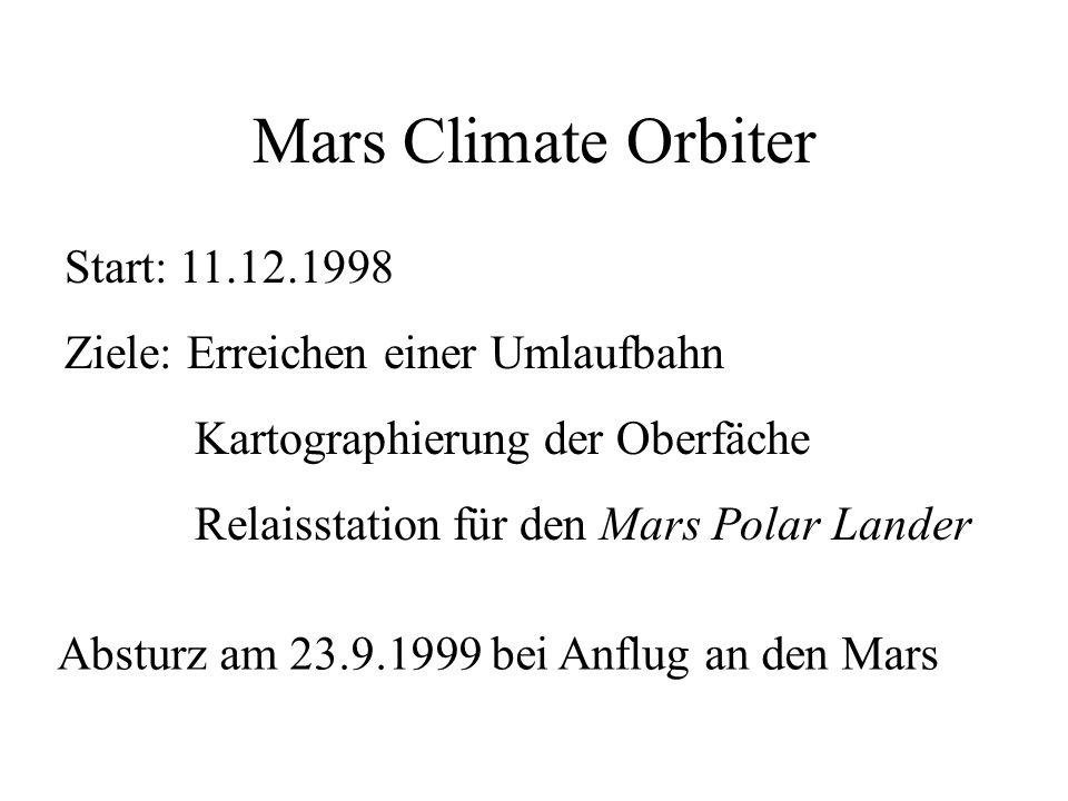 Mars Climate Orbiter (1999)