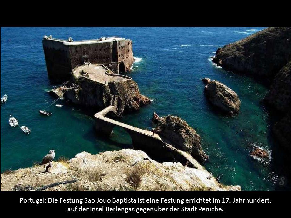 Portugal: Die Festung Sao Jouo Baptista ist eine Festung errichtet im 17.