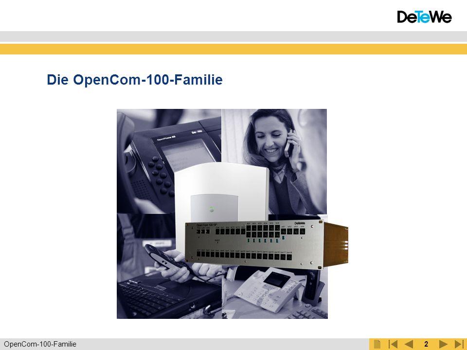 Die OpenCom-100-Familie DECT-Funknetz & IP-Router & TK-Funktion