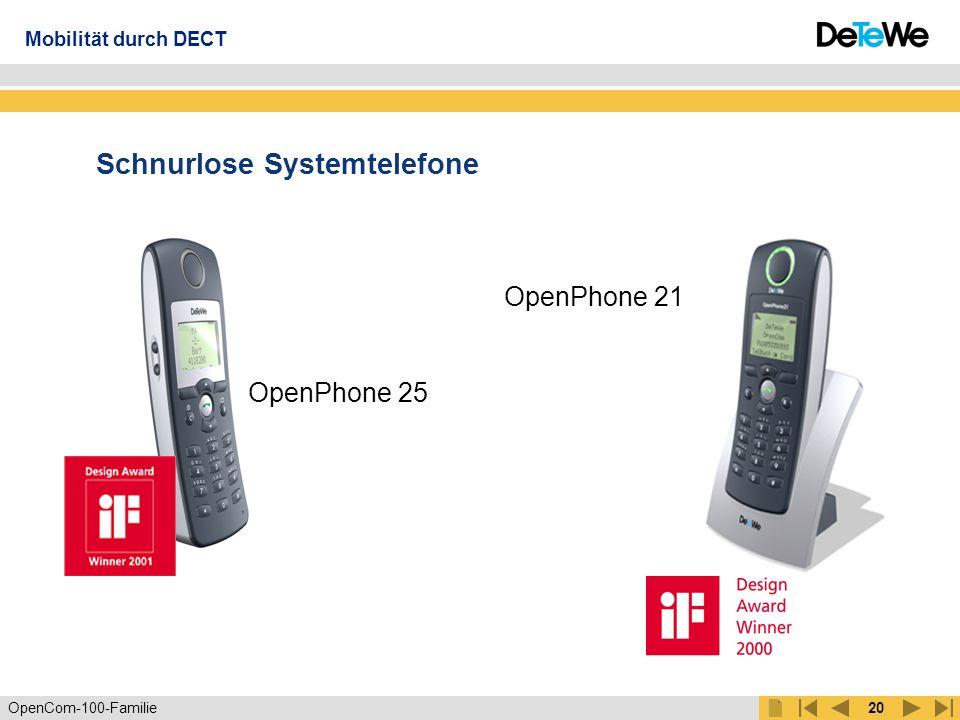 OpenCom-100-Familie19 DECT Funknetz Mobilität durch DECT