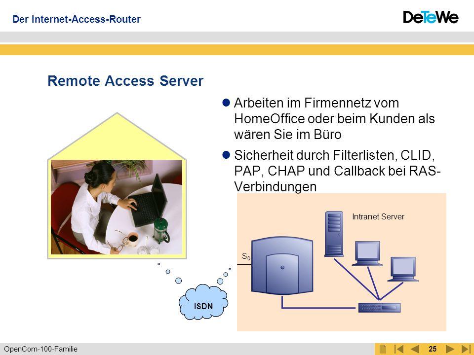 """OpenCom-100-Familie24 RFP 21 eMail Server intern/ extern U PN eMail-Notification Kein Kunde geht mehr verloren: Signalisierung neuer eMails auf dem Display Sie entscheiden, wann Sie die eMail lesen: Absender, Zeit und Betreffzeile sehen Sie auf Ihrem Systemtelefon ISDN Der Internet-Access-Router """"eMail empfangen"""