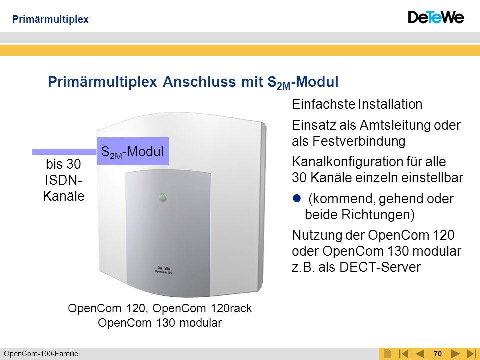 OpenCom-100-Familie69 Besetztanzeige Belegungszustand der Bündel Anzeige eines Bündels konfigurierbar unter PBX- Konfiguration - Leitungen - Bündel Belegungszustand der Telefone der Benutzer Anzeige eines Benutzers konfigurierbar unter Benutzer Manager - Benutzer Grüner Hörer ist anwählbar, jedoch kein vermitteln OpenCTI 50