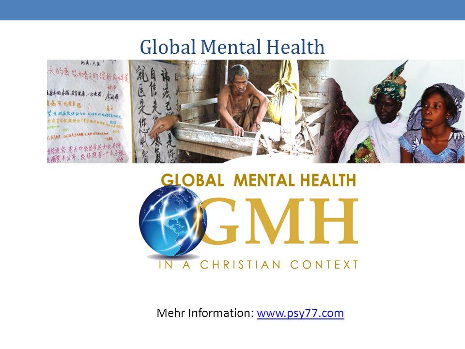 4 Global Mental Health Mehr Information: www.psy77.comwww.psy77.com