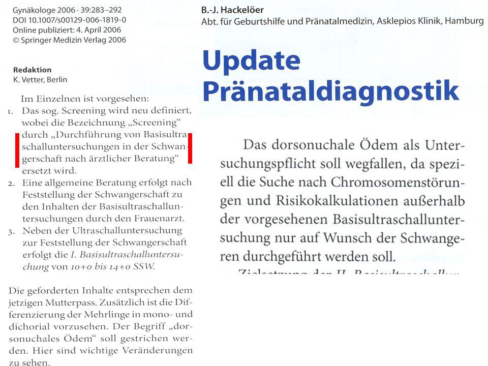 Ultraschallscreening im II.Trimenon B.J. Hackelöer, K.
