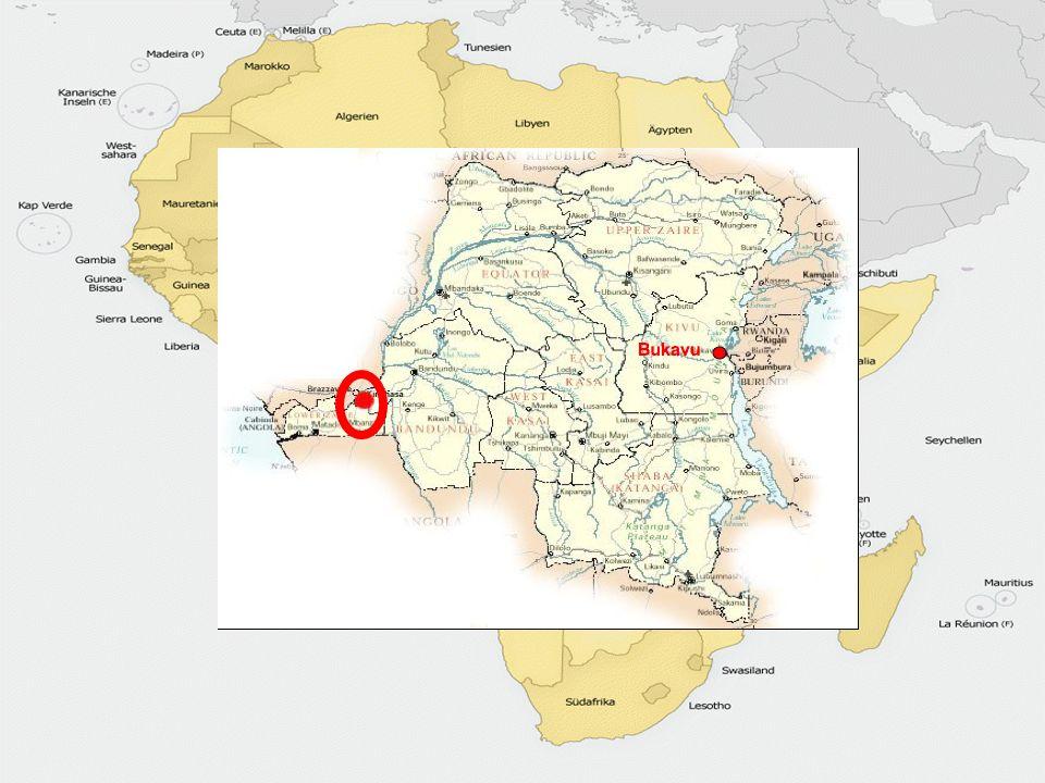 Kongo Faktoren wie Produktion und Geografie Größe:2.344.885km² Einwohner:51 Millionen Hauptstadt:Kinshasa