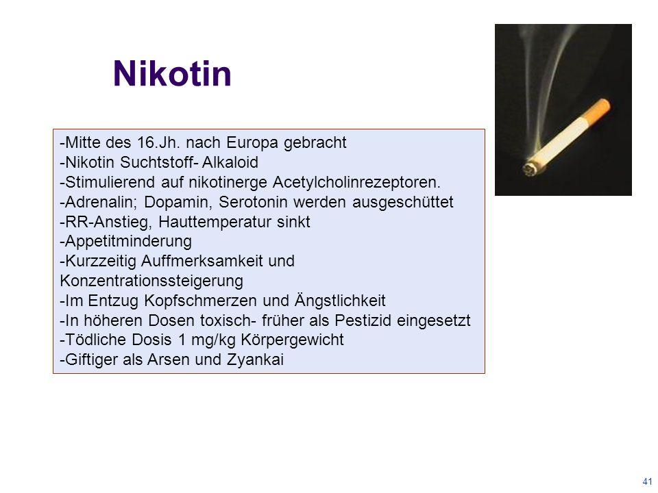41 Nikotin -Mitte des 16.Jh.