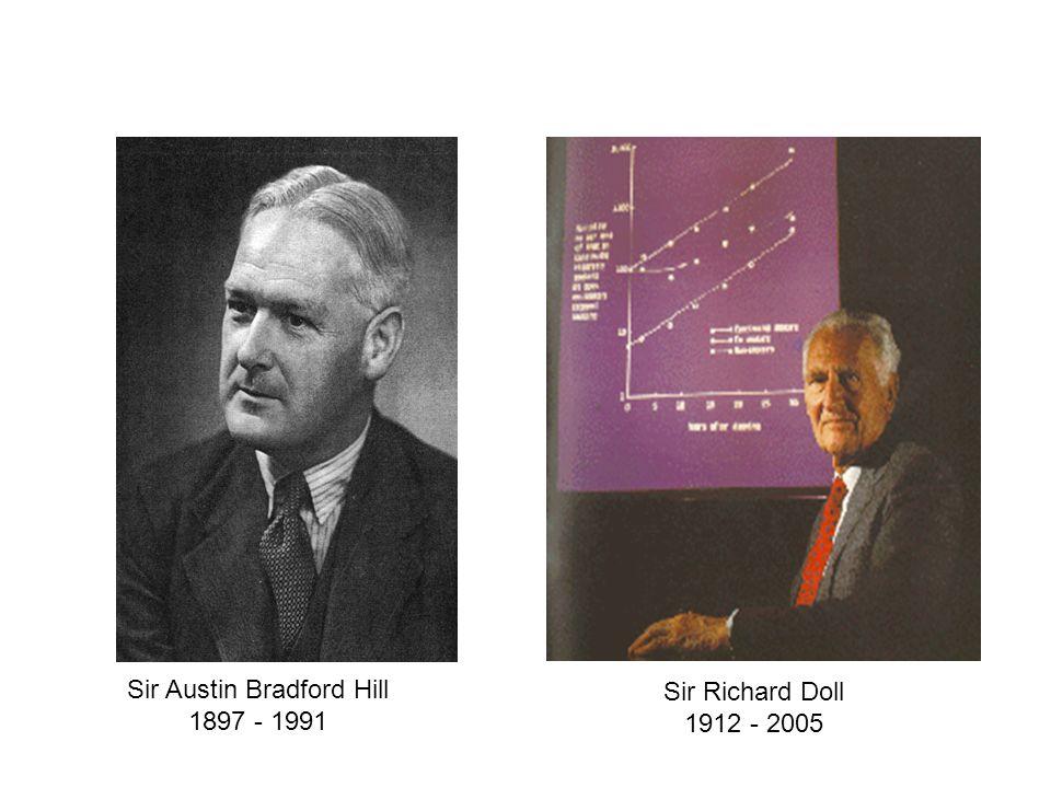 Sir Austin Bradford Hill 1897 - 1991 Sir Richard Doll 1912 - 2005