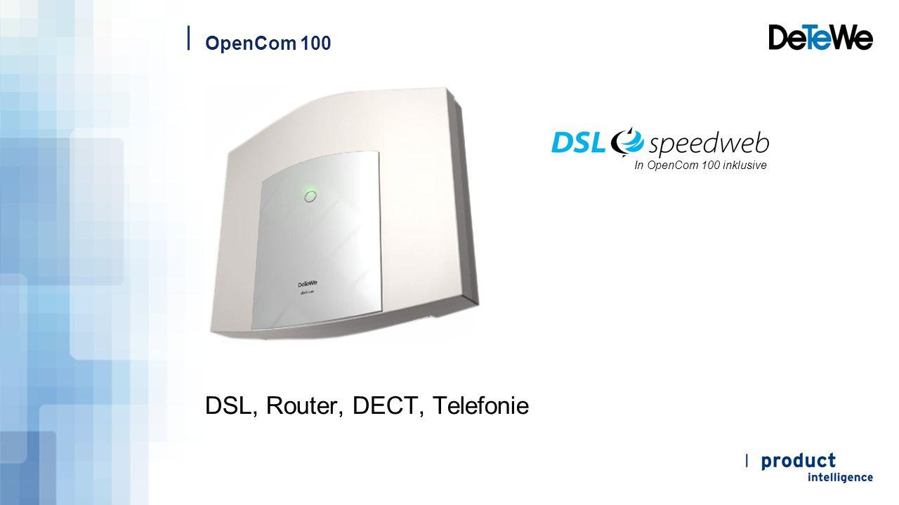 OpenCom 100 Produktbeschreibung  Die OpenCom 100-Familie ist eine komplette ITK-Anlage.