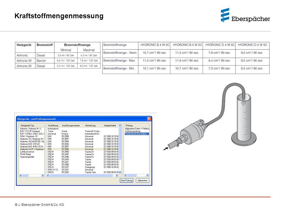 © J. Eberspächer GmbH & Co. KG Kraftstoffmengenmessung