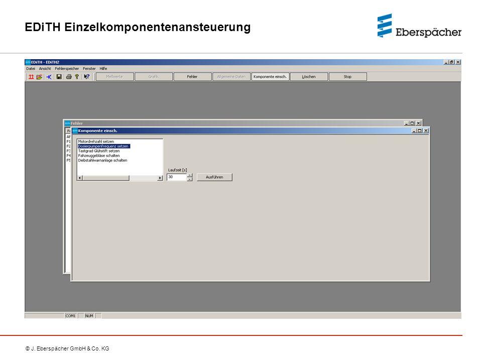 © J. Eberspächer GmbH & Co. KG EDiTH Einzelkomponentenansteuerung
