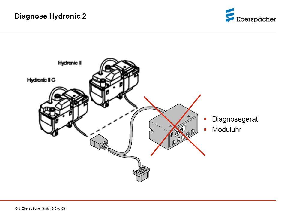 © J. Eberspächer GmbH & Co. KG Diagnose Hydronic 2  Diagnosegerät  Moduluhr