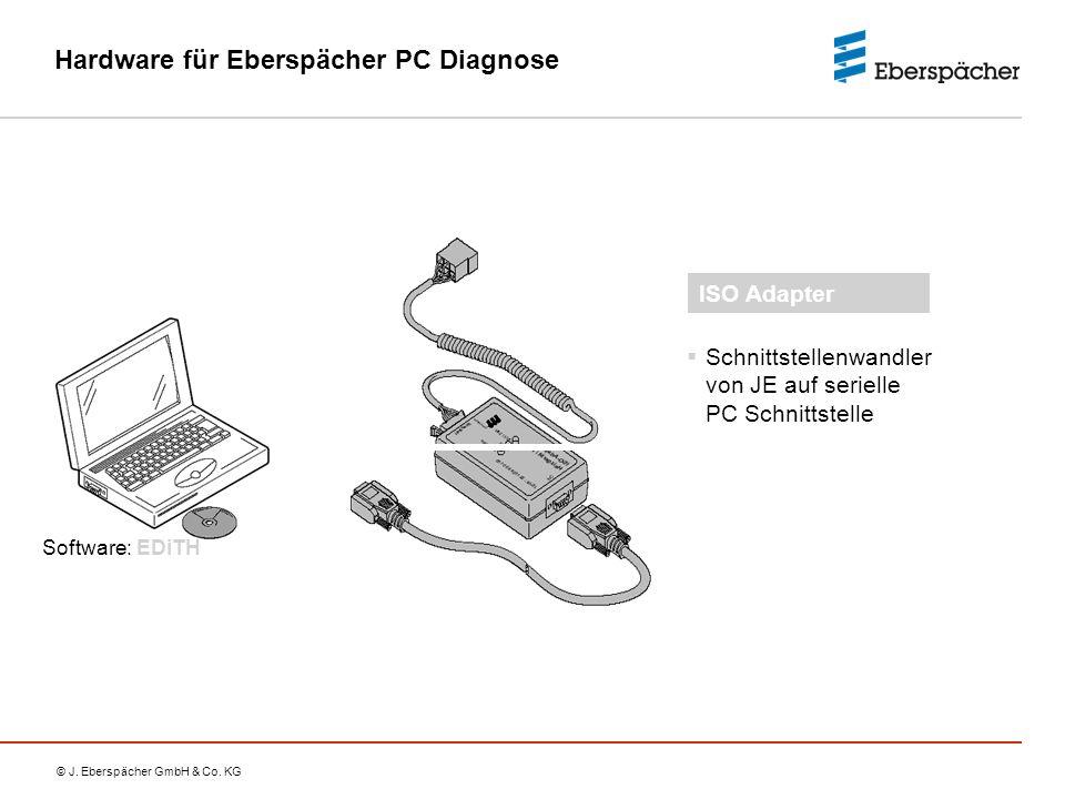 © J. Eberspächer GmbH & Co. KG Hardware für Eberspächer PC Diagnose  Schnittstellenwandler von JE auf serielle PC Schnittstelle ISO Adapter Software: