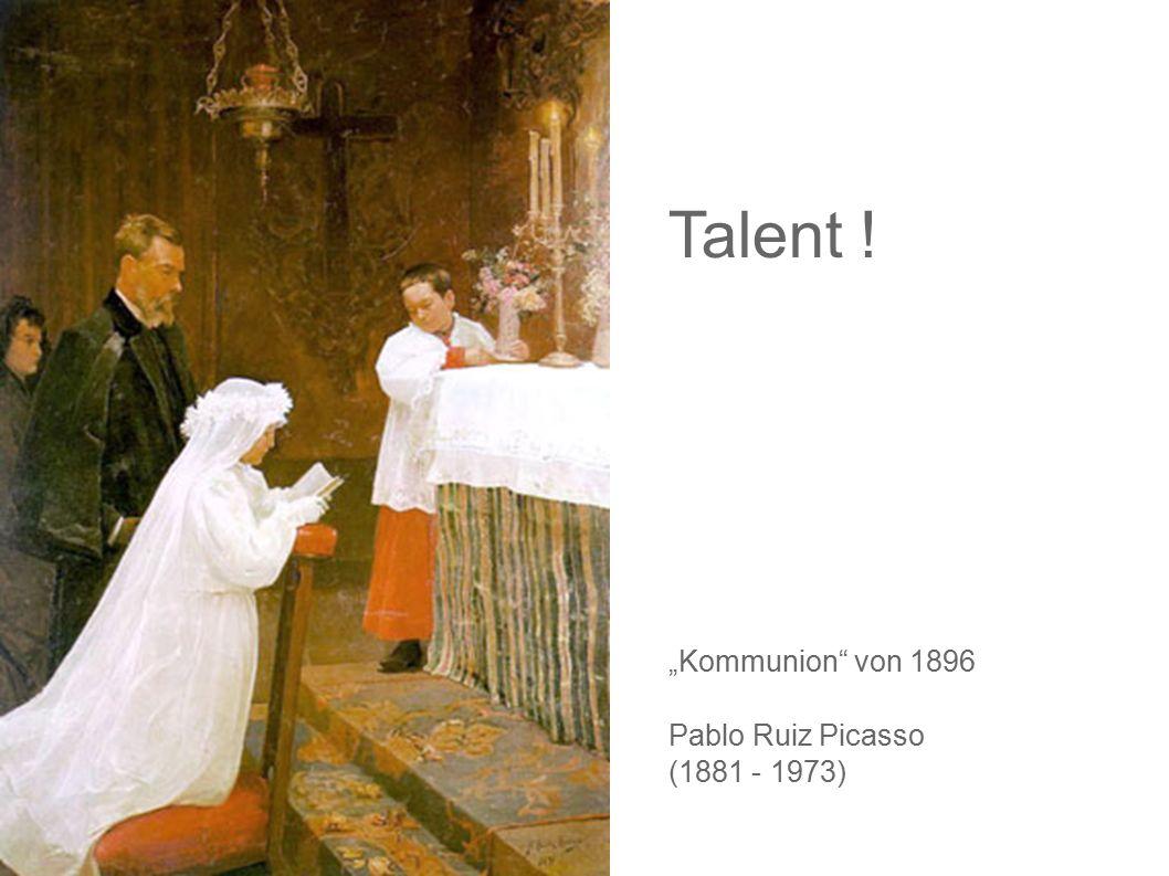 """Talent ! """"Kommunion"""" von 1896 Pablo Ruiz Picasso (1881 - 1973)"""