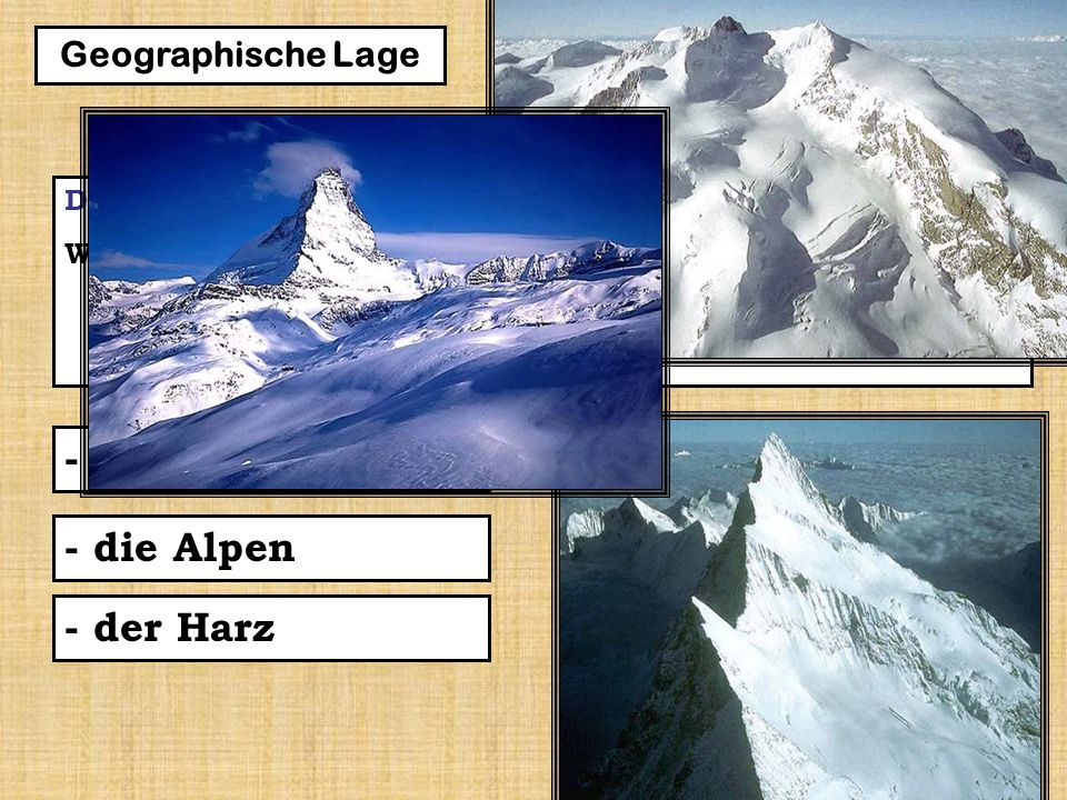 6 Die Frage 2 – Wie nennt man das Gebirge im Süden Deutschlands.