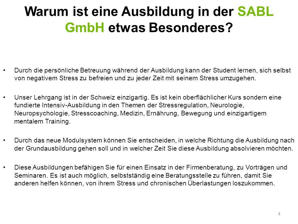 Warum ist eine Ausbildung in der SABL GmbH etwas Besonderes? Durch die persönliche Betreuung während der Ausbildung kann der Student lernen, sich selb