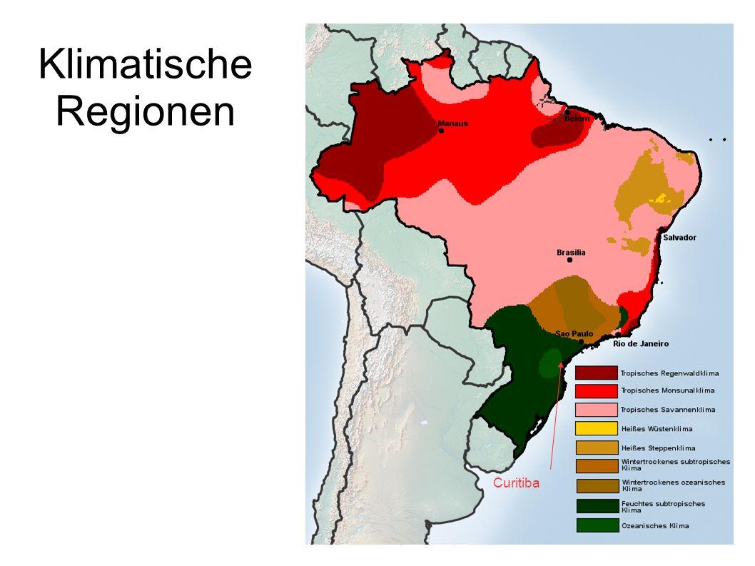 Klimatische Regionen Curitiba