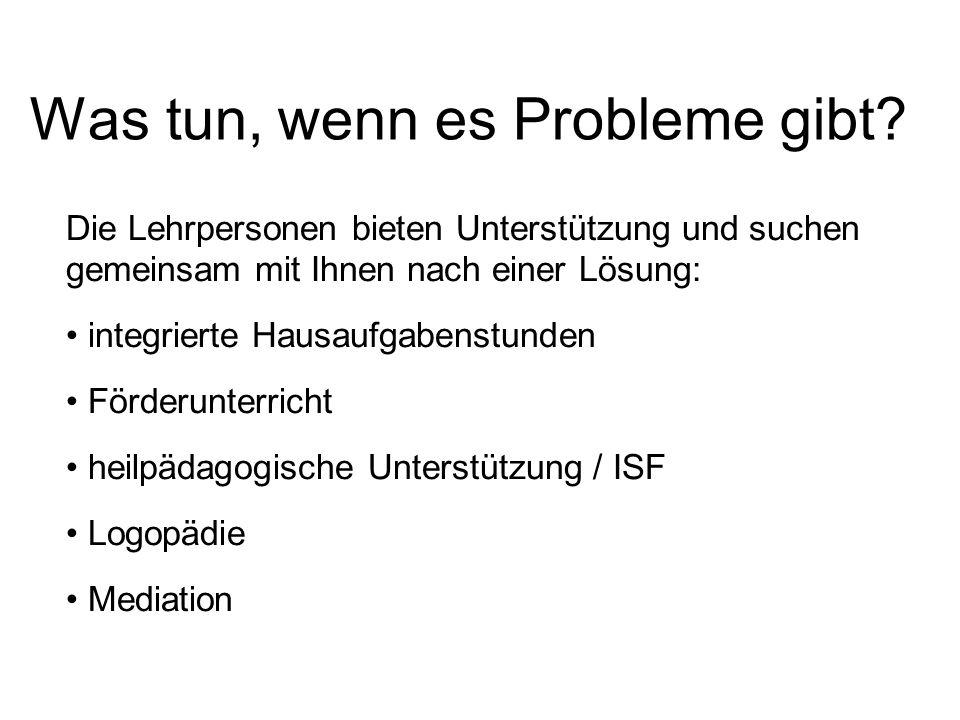 Was tun, wenn es Probleme gibt.