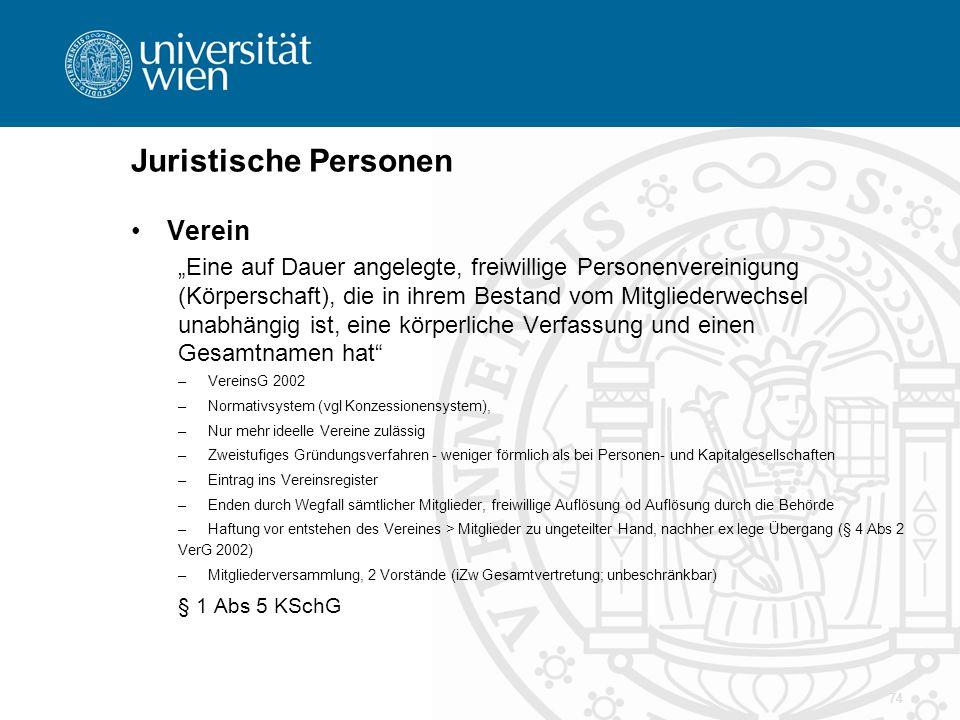 """Juristische Personen Verein """"Eine auf Dauer angelegte, freiwillige Personenvereinigung (Körperschaft), die in ihrem Bestand vom Mitgliederwechsel unab"""
