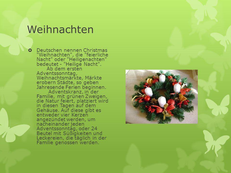 Weihnachten  Deutschen nennen Christmas
