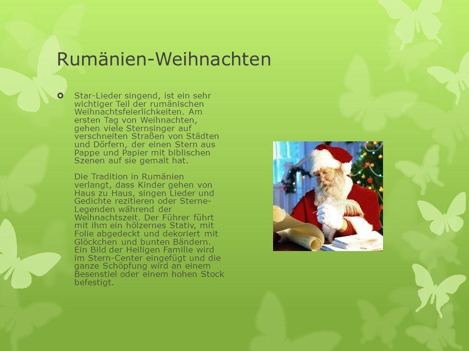 Rumänien-Weihnachten  Star-Lieder singend, ist ein sehr wichtiger Teil der rumänischen Weihnachtsfeierlichkeiten. Am ersten Tag von Weihnachten, gehe