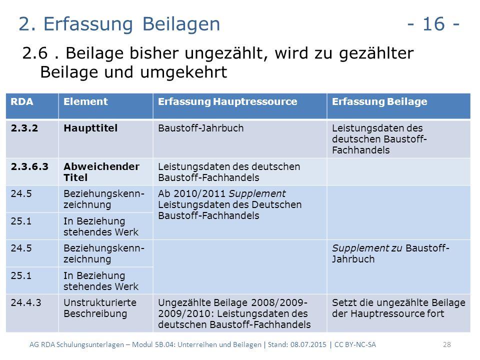 2. Erfassung Beilagen - 16 - 2.6.