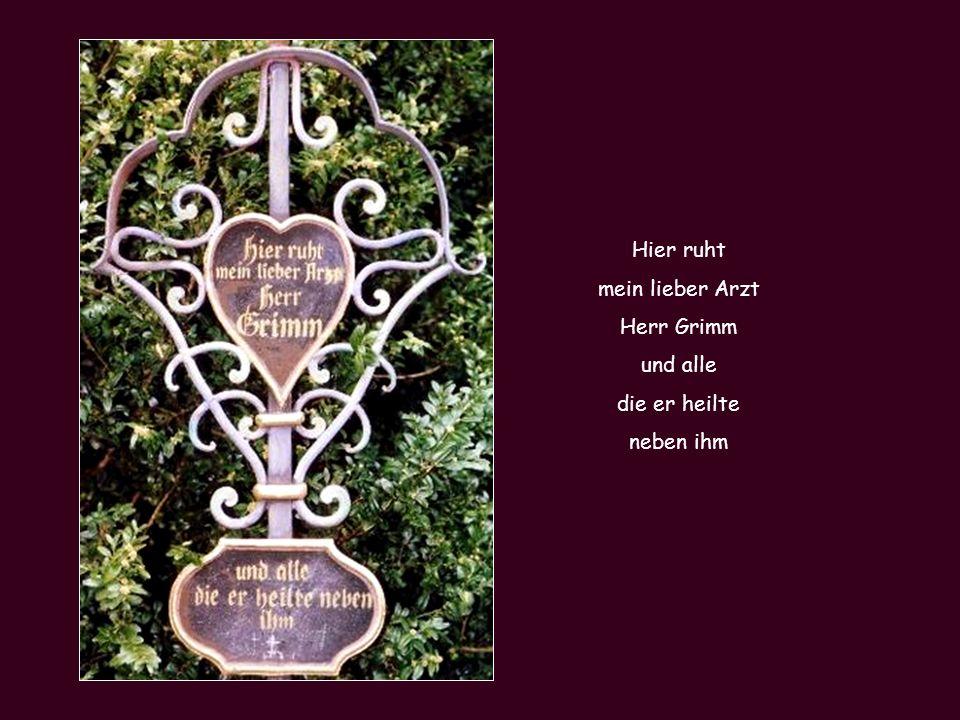 Hier liegt die Jungfer Rosalind geboren als unerwünschtes Kind Ihr unbekannter Vater war Kapuziner-Pater