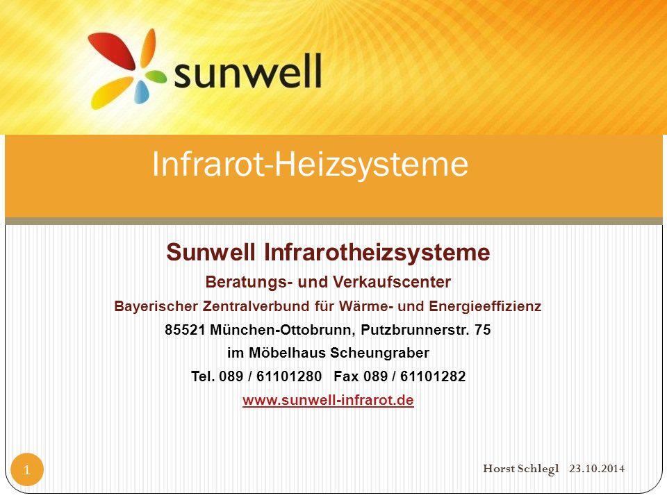 Sunwell Infrarotheizsysteme Beratungs- und Verkaufscenter Bayerischer Zentralverbund für Wärme- und Energieeffizienz 85521 München-Ottobrunn, Putzbrunnerstr.