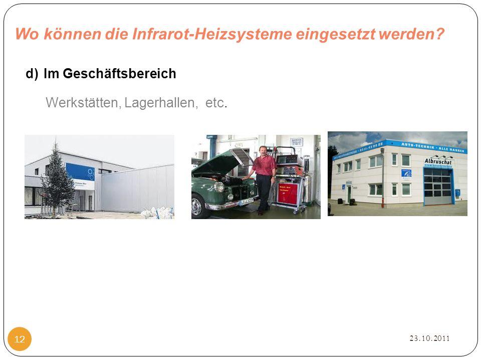Wo können die Infrarot-Heizsysteme eingesetzt werden.