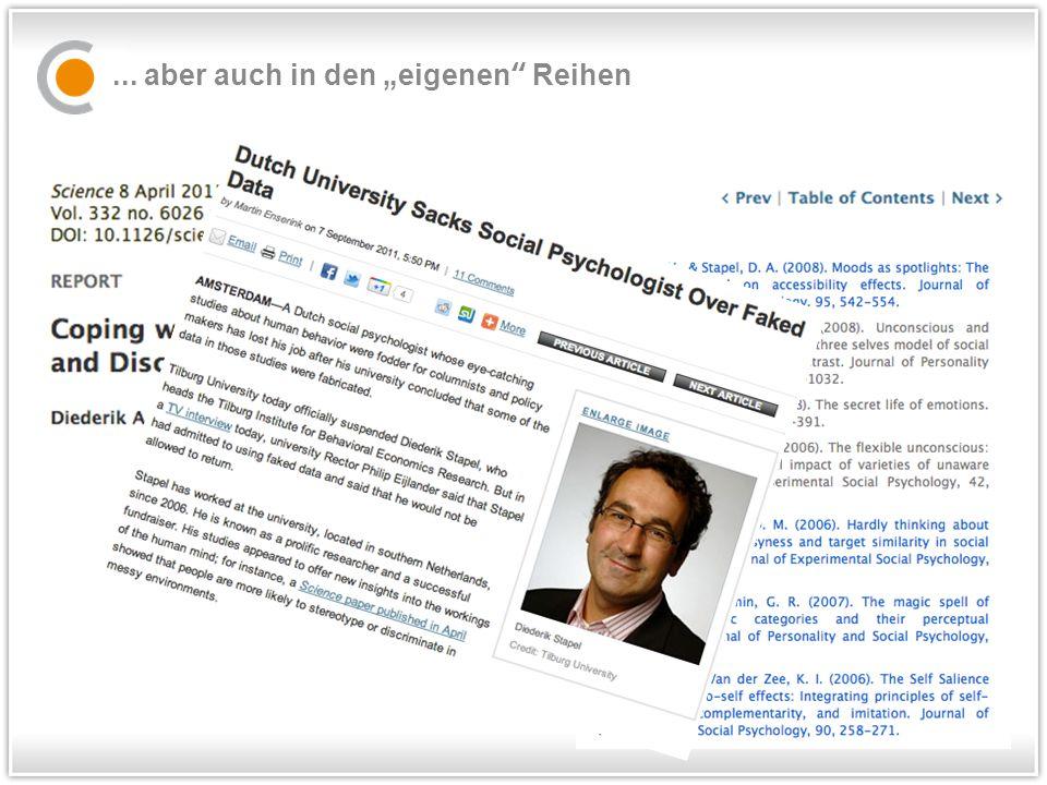 """DFG Empfehlungen...in Auszügen """"Vorschläge zur Sicherung guter wissenschaftlicher Praxis."""
