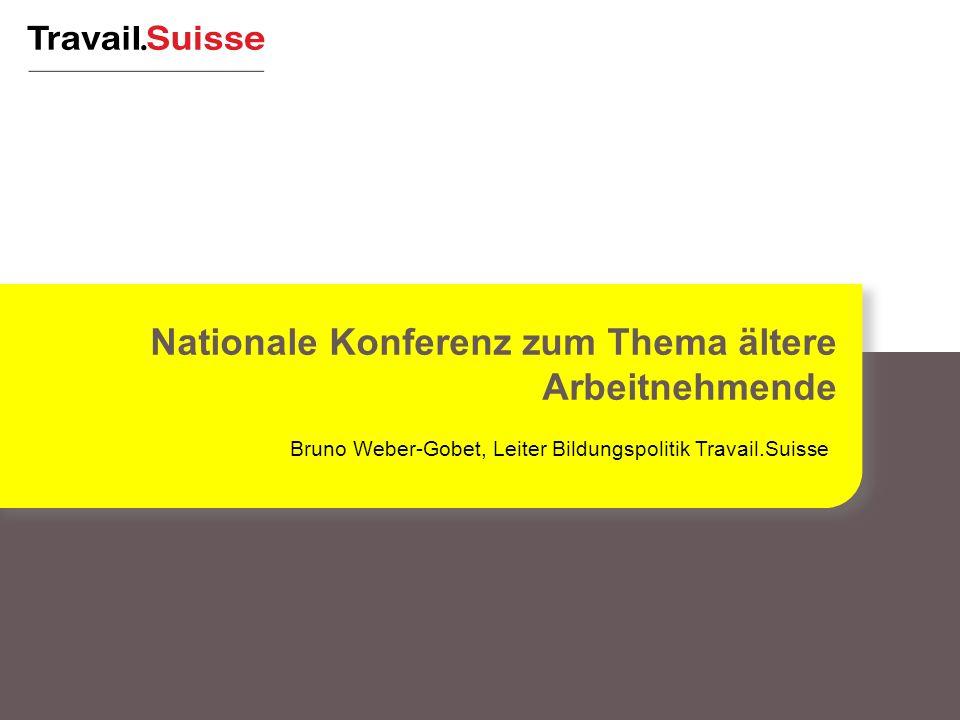 Bruno Weber-Gobet, Leiter Bildungspolitik Travail.Suisse Nationale Konferenz zum Thema ältere Arbeitnehmende