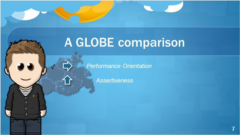 Performance Orientation Assertiveness A GLOBE comparison 7