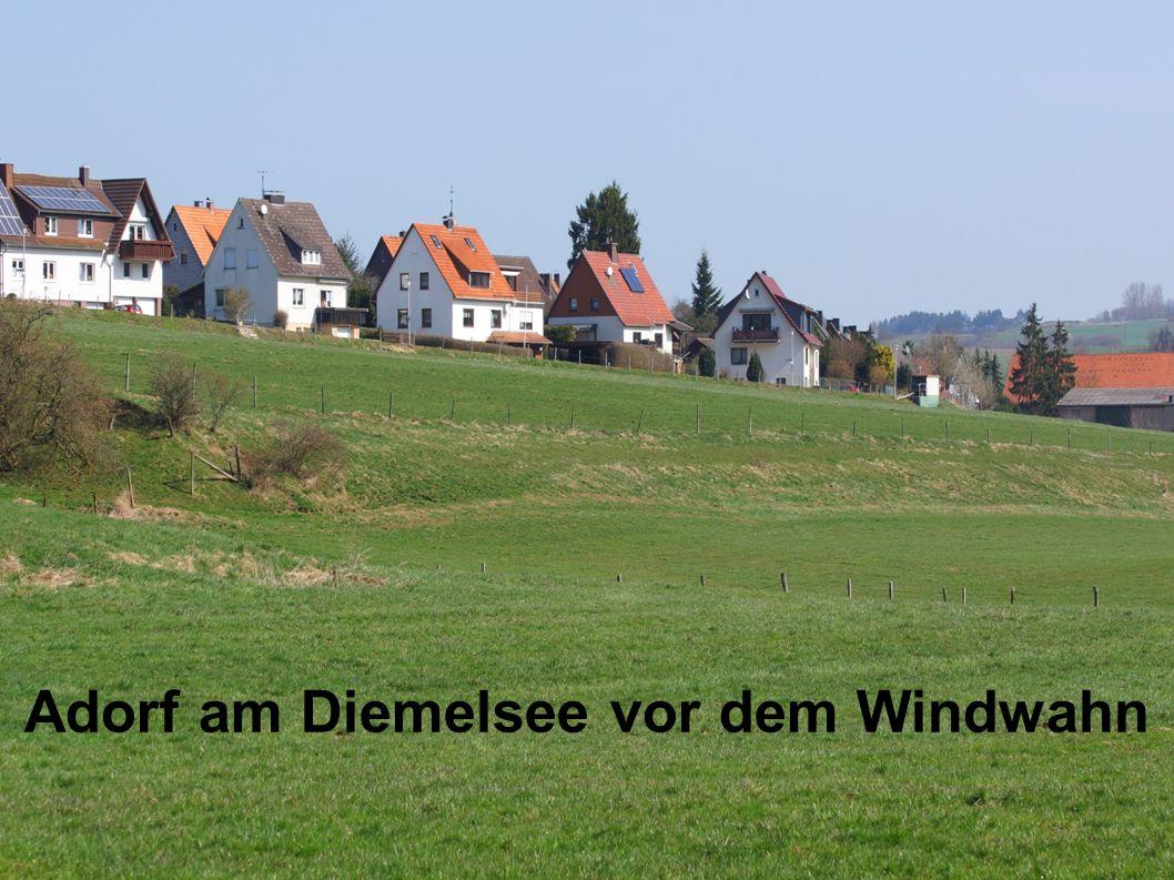 Adorf am Diemelsee vor dem Windwahn