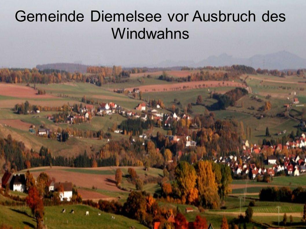 Gemeinde Diemelsee vor Ausbruch des Windwahns