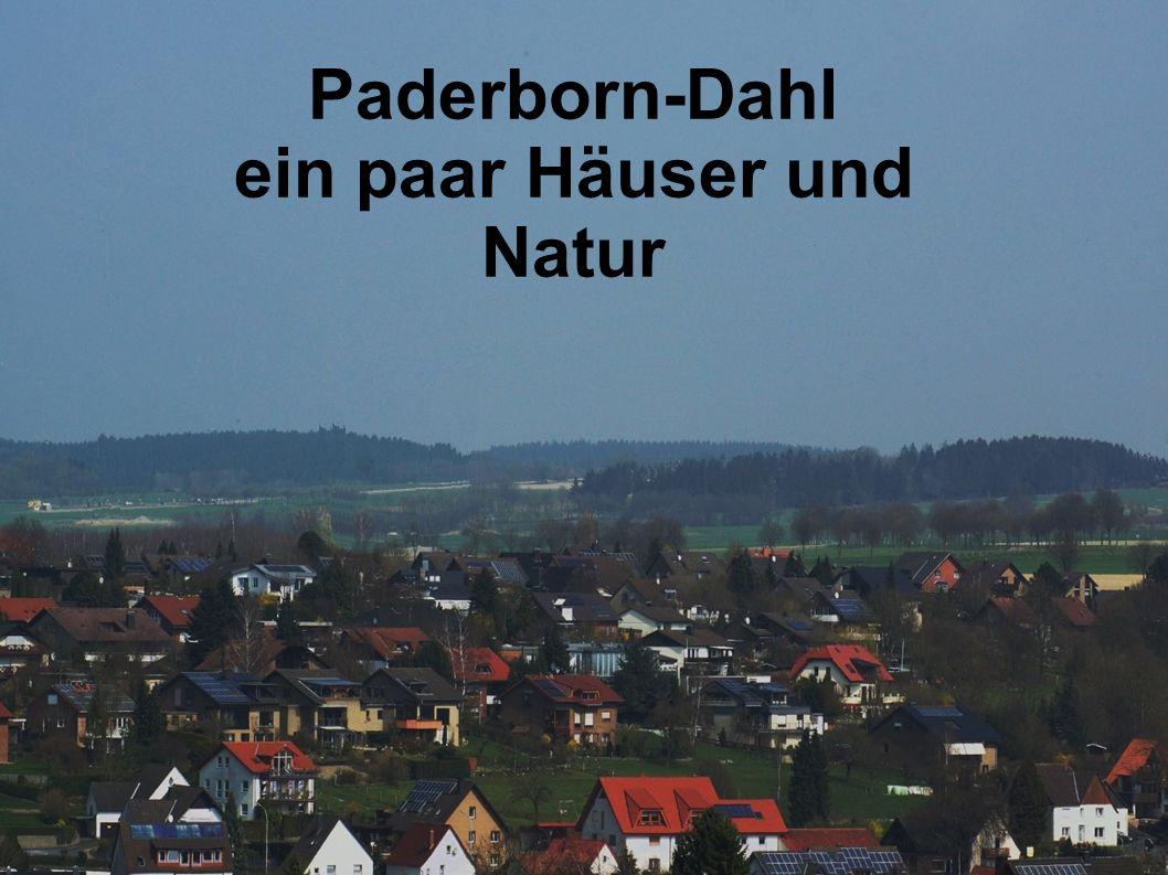 Paderborn-Dahl ein paar Häuser und Natur