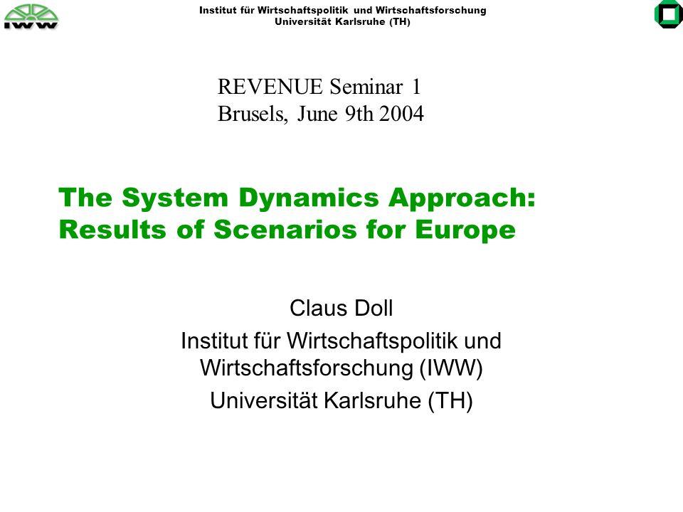 Institut für Wirtschaftspolitik und Wirtschaftsforschung Universität Karlsruhe (TH) Employment effects Diffuse picture: most positive development of reinvestment scenarios.