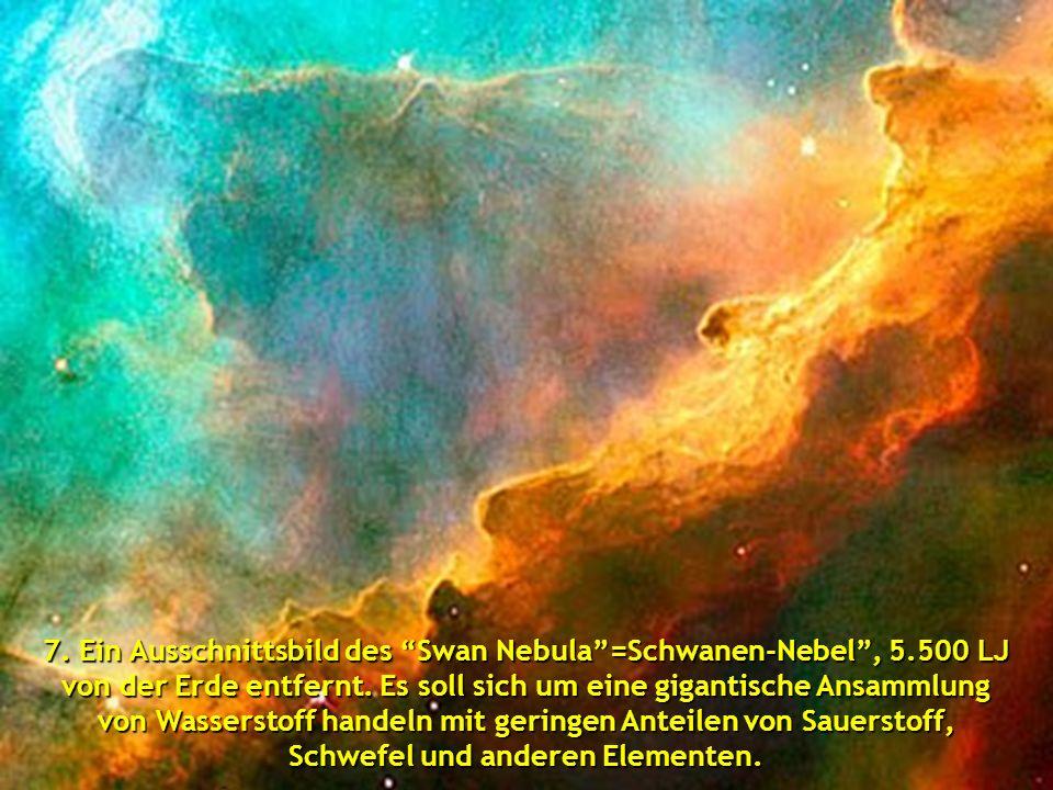 """6.Platz: das Ausschnittsfoto vom """"Cone Nebula""""= Kegel-Nebel, 2,5 LJ entfernt"""