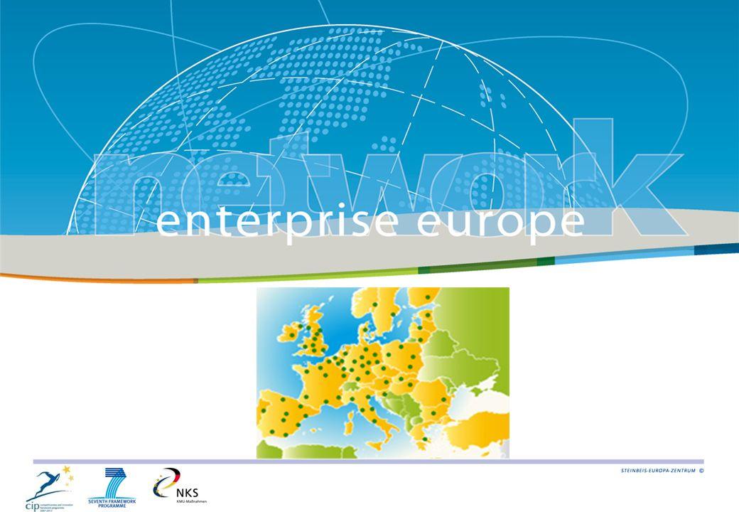 570 partner organisations in 44 countries Enterprise Europe Network http://www.enterprise-europe-network.ec.europa.eu
