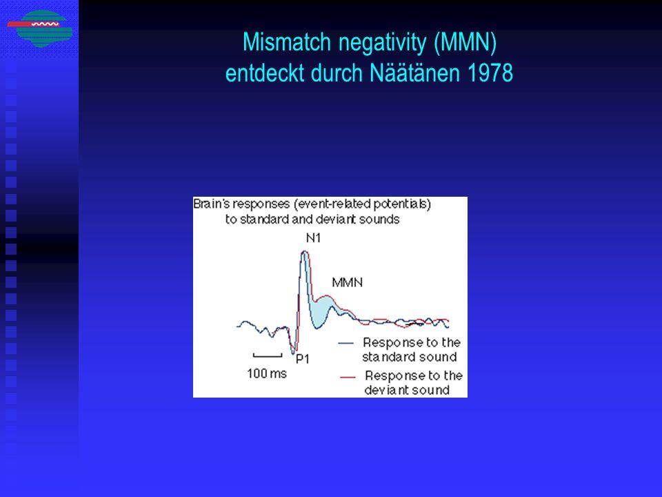Mismatch negativity (MMN) entdeckt durch Näätänen 1978