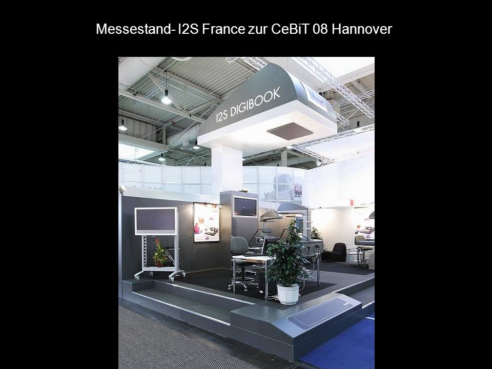 Messestand- I2S France zur CeBiT 08 Hannover