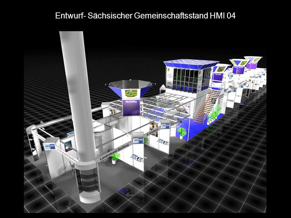 Entwurf- sächsischer Gemeinschaftsstand HMI 04