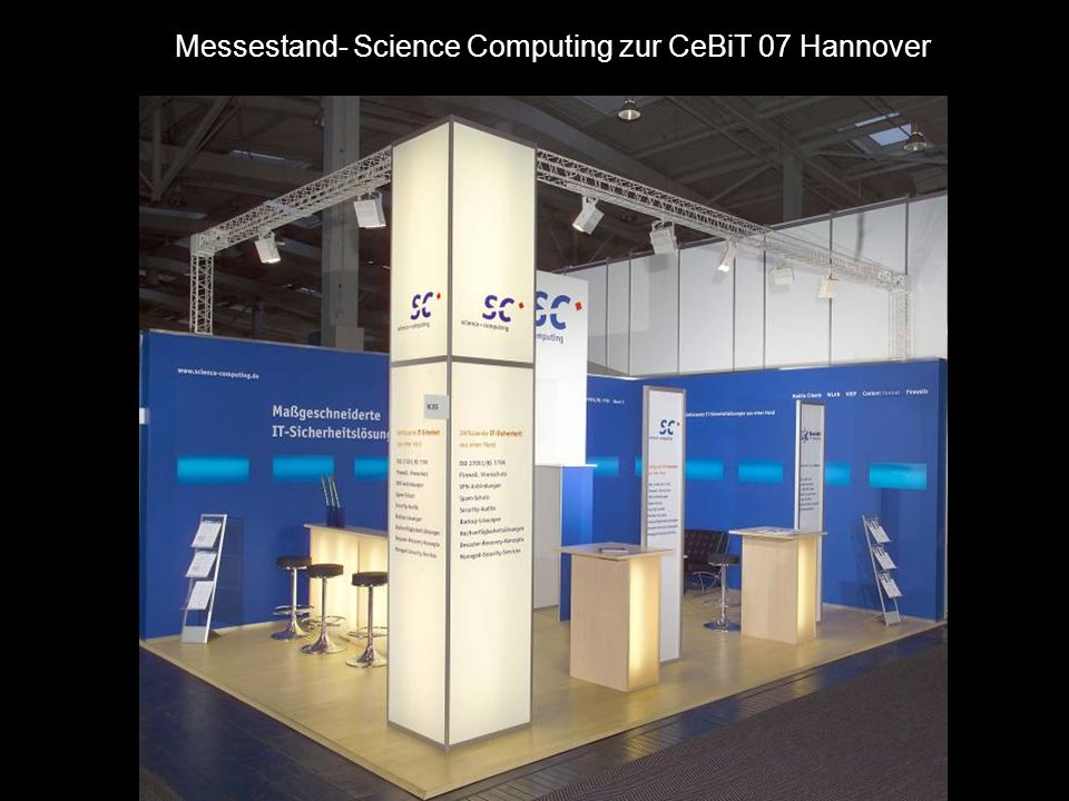 Messestand- Science Computing zur CeBiT 07 Hannover