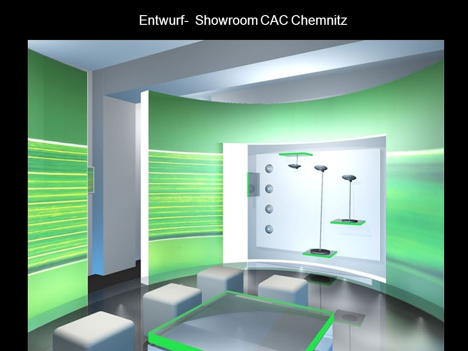 Entwurf- Showroom CAC Chemnitz