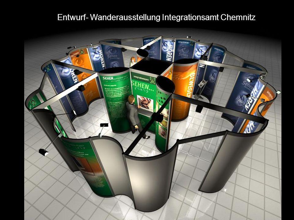 Entwurf- Wanderausstellung Integrationsamt Chemnitz