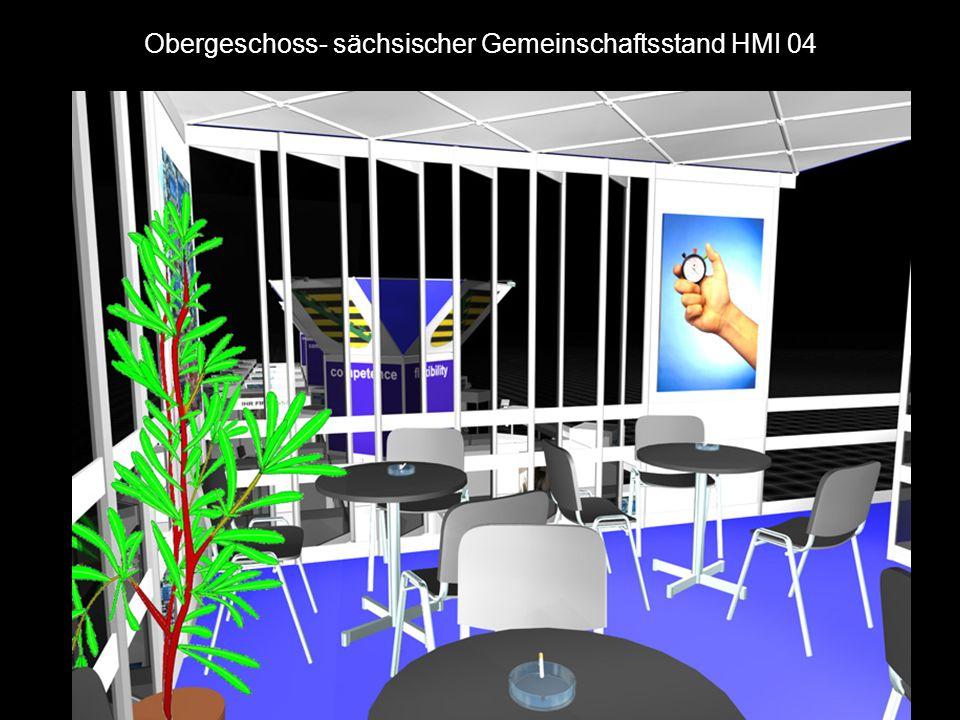Obergeschoss- sächsischer Gemeinschaftsstand HMI 04