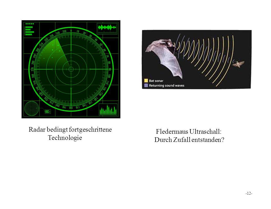 Radar bedingt fortgeschrittene Technologie Fledermaus Ultraschall: Durch Zufall entstanden -12-
